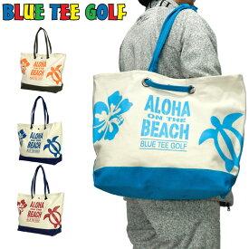 ブルーティーゴルフ コットン ビッグトートバッグ BTG-TT003 Aloha On The Beach 【新品】19FW Blue Tee Golf California アロハ オンザ ビーチ NOV2 NOV3