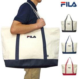 フィラゴルフ キャンバス ビッグトートバッグ 749961 【新品】19SS FILA Golf キャンバス地 コットン 大きめ ゴルフ用バッグ