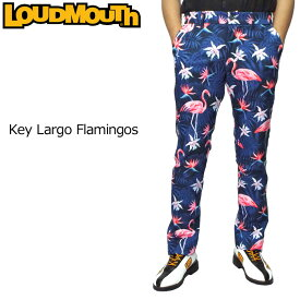 【日本規格】ラウドマウス 2019 メンズ ロングパンツ Key Largo Flamingos キーラゴ フラミンゴ 779301(212) 【新品】19FW Loudmouth ゴルフウェア ボトムス 派手 派手な 柄 目立つ 個性的 OCT1 OCT2