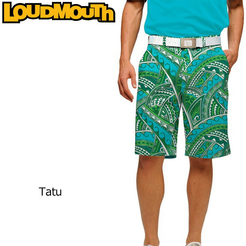 """[アウトレット 60%off][インポート]Loudmouth Regular Cut Short Pants """"Tatu"""" (ラウドマウス メンズ レギュラーカットショートパンツ """"タトゥー"""")[新品]Loudmouthゴルフウェアボトムス"""