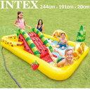 INTEX インテックス ファン&フルーティー プール 滑り台付 244cm×191cm×91cm 【新品】 水遊び スクエアプール 大型プール ビニールプール アウトドア用品 %off MAY3 J