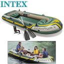 インテックス Seahawk4 シーホークゴムボート 4人乗り オール ポンプ クッション付き[新品]intex boat set アウトドアマリンスポーツ