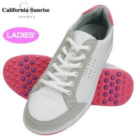 レディース 朝日ゴルフ California Sunrise Sports カリフォルニアサンライズ スパイクレスゴルフシューズ CSSH-3622L【新品】レディス女性