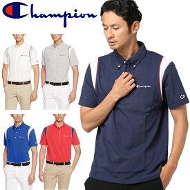 【メール便発送】Champion チャンピオン ゴルフ 鹿の子 パイピング ボタンダウン メンズ半袖ポロシャツ C3-LS361 【新品】18SS 男性用 紳士用 MEN'S MENS' トップス 半そで シャツ ゴルフウェア メンズウエア
