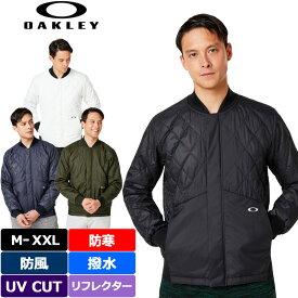 オークリー メンズ 中綿 キルティング ジャケット 412855JP Enhance Insulation Mil Jacket 【新品】19FW Oakley 長袖 長そで ゴルフウェア ブルゾン アウター 無地 %off