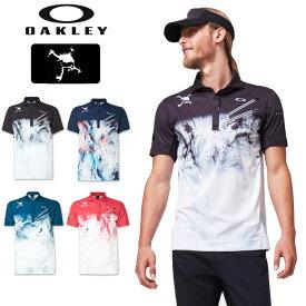 Oakley オークリー 2020 メンズ 半袖 ポロシャツ FOA401631 SKULL EXPLODE SHIRTS 春夏秋【新品】 20FW ゴルフウェア 吸汗速乾 半そで AUG2 AUG3
