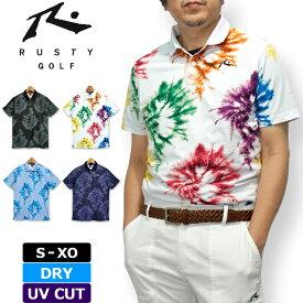 【メール便発送】ラスティ ゴルフ 2020 メンズ 半袖 DRY ポロシャツ UV CUT 720601 RUSTY GOLF 春夏秋【新品】20SS トップス 半そでシャツ MAR1 MAR2