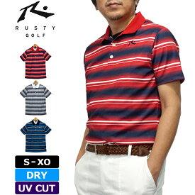 【メール便発送】ラスティ ゴルフ 2020 メンズ 半袖 DRY ポロシャツ UV CUT 720603 RUSTY GOLF 春夏秋【新品】20SS トップス 半そでシャツ