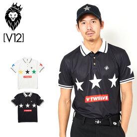 V12 ゴルフ ヴィ・トゥエルヴ 2020 メンズ 半袖 ポロシャツ 5 STAR POLO V122010-CT09 【新品】20SS ゴルフウェア トップス V12 GOLF スター APR1 APR2