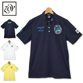 ZOY ゾーイ 2020 メンズ 半袖 ポロシャツ 放湿 冷却 ボタンダウン 071402001 春夏秋 【新品】20SS ゴルフウェア メンズウェア エクスライブ トップス 半そで