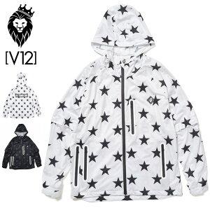 V12 ゴルフ ヴィ・トゥエルヴ 2021 メンズ 高耐水圧 レインジャケット ALL STAR RAIN JKT V122110-JK02 【新品】21SS レインウェア V12 GOLF STAR スター MAR1