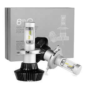 車検対応! H4 LEDヘッドライト Hi/Lo切替 4000LM 6500k 白光 2個セット 韓国CSPチップス採用 完全防水 超輝度!低消費!長寿命! 30000時間 LEDバルブ LED ヘッドライト1年保証