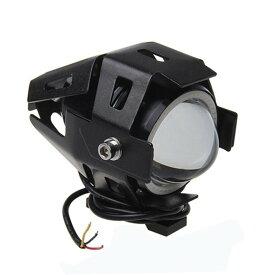 LEDヘッドライト クリー CREE製LED採用 U7 砲弾型 バイク 白/青イカリング選択可 防水 15W 3000LM 12V〜80V フォグランプ LEDライトオートバイ ヘッドライト アルミ製 イカリング付き ストロボ機能 1個