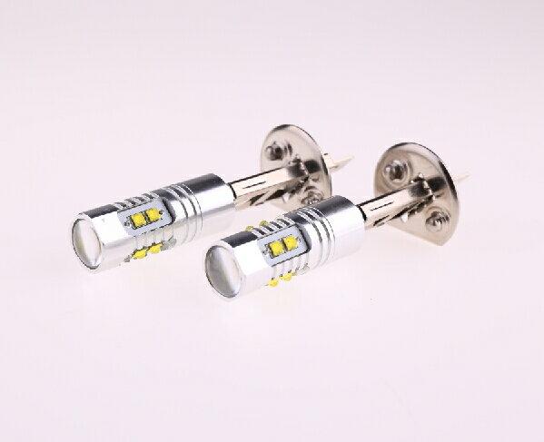 H1 LEDバル 50W!2個セット クリー CREE製LED採用 LEDフォグランプ 高輝度 ホワイト 無極性 プロジェクターレンズ DC12V/24V兼用