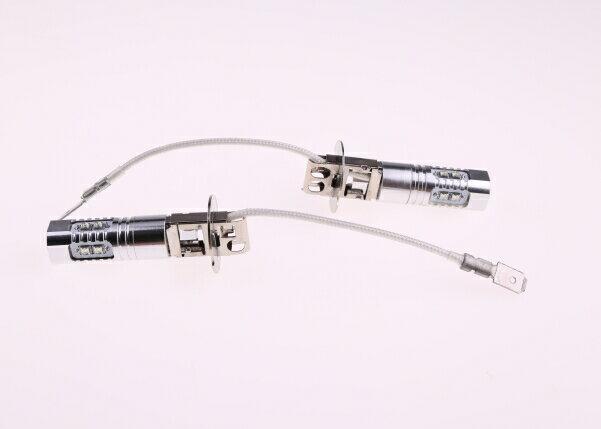 H3 LEDバル 50W! 2個セット クリー CREE製LED採用 LEDフォグランプ 高輝度 ブルー 無極性! プロジェクターレンズ DC12V/24V兼用