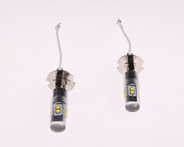 ネコポス対応可☆ LEDバルブ 50W!H3 2個セット クリー CREE製LED採用 LEDフォグランプ 高輝度 ホワイト 無極性 プロジェクターレンズ DC12V/24V兼用