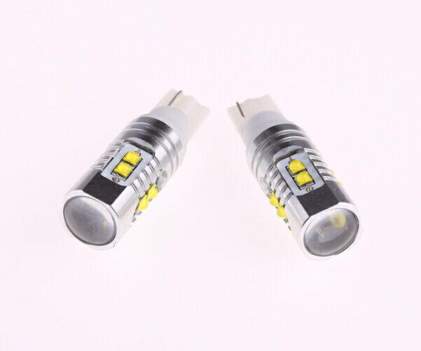 ネコポス対応可☆ 高輝度 T10/T16ウェッジ球 LEDバルブ クリー CREE製LED採用 50W ホワイト 白 2個セット 12V/24V 1年保証 バックランプ ポジションランプ等用
