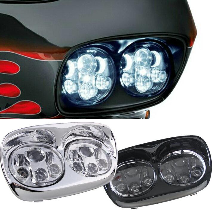 ハーレー ロードグライド LED ヘッドライト ハーレーダビッドソン Road Glide FLTRU FLTRX FLTRXSE FLTRX FLTR EFI FLTRI ツインズ 双頭 1年保証