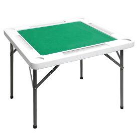 麻雀卓 手打ち 折りたたみ マージャン卓 テーブル 麻雀台 高密度ポリエチレン 耐荷重200kg ハニカム構造 軽量10kg 88x88x71