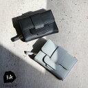 ベルトデザイン小銭入れ付き三つ折り財布【メール便不可】w0003