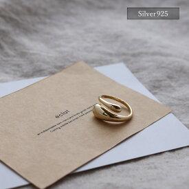 【eclat エクラ】Silver925 Gold Whipped Cream Ring 【追跡可能メール便 送料無料】e0288