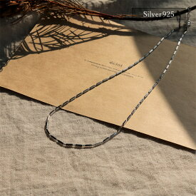 【eclat エクラ】 Silver925 Shiny Plate Necklace【追跡可能メール便 送料無料】e0335