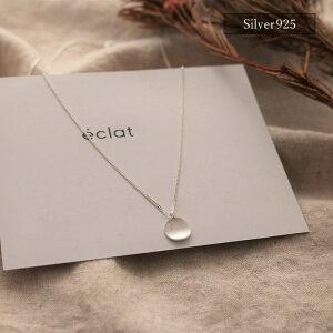 【eclatエクラ】Silver925TinyCoinChainNecklace【追跡可能メール便送料無料】e0337