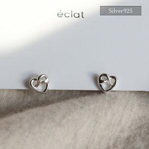 【eclatエクラ】Silver925CrossHeartPierced【追跡可能メール便送料210円】e0344