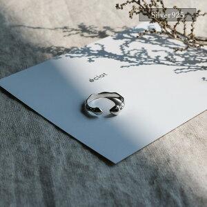 【eclatエクラ】Silver925DistortedRing【追跡可能メール便送料無料】e0324