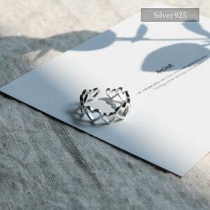 【eclatエクラ】Silver925HeartshapedRing【追跡可能メール便送料無料】e0325