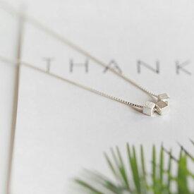 Silver925 Dice Slender Necklace 【追跡可能メール便 送料210円】y0020