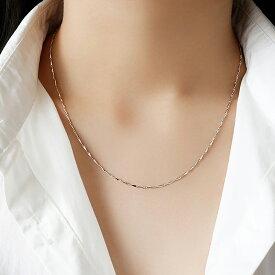 Silver925 Simple Chain Necklace【追跡可能メール便 送料210円】y0029