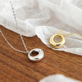 Silver925 Plump Necklace【追跡可能メール便 送料210円】y0052