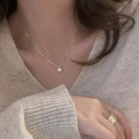 Silver925 Subtle Brilliance Necklace【追跡可能メール便 送料210円】y0067
