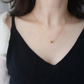 Silver925 Bean Necklace【追跡可能メール便 送料210円】y0076