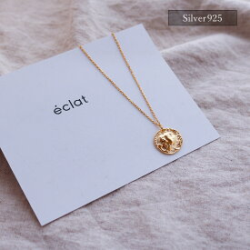 【eclat エクラ】Silver925 Gold Coin Chain Necklace【追跡可能メール便 送料無料】e0305