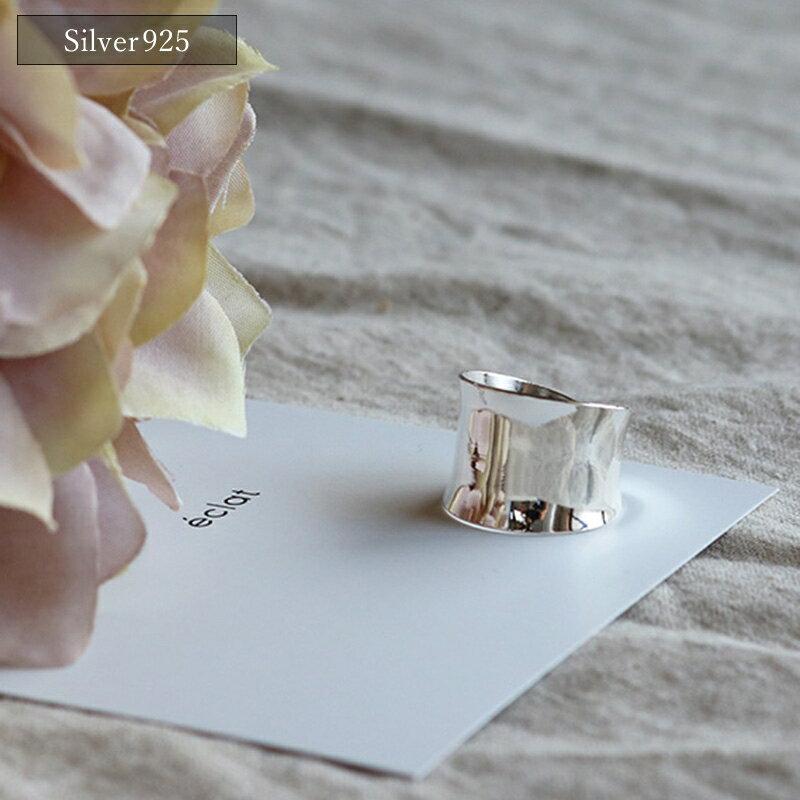 ■【eclat エクラ】Silver925 Wide Ring【メール便不可】e0001