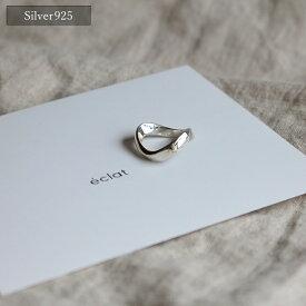 【eclat エクラ】Silver925 Angle Ring 【追跡可能メール便 送料無料】e0135