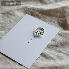 【eclat エクラ】Silver925 Toggle Ring 【追跡可能メール便 送料無料】e0140