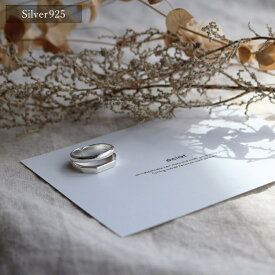 【eclat エクラ】 Silver925 Double Line Ring 【追跡可能メール便 送料無料】e0142
