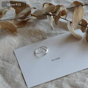 【eclat エクラ】 Silver925 Smooth Wave Ring 【追跡可能メール便210円】e0144