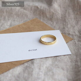 【eclat エクラ】 Silver925 Gold Plated Different Material Ring 【追跡可能メール便 送料無料】e0228