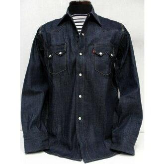 LEVI ' S-XX (李維斯) 復古服裝/歸檔西方 / 牛仔布 / 長袖襯衫!
