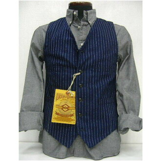 JOE McCOY(乔麦科伊)by The REAL McCOY'S[DOUBLE DIAMOND WABASH WORK VEST/Lot.424]工作最好!]