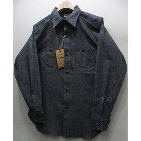 WAREHOUSE(ウエアハウス) [CHAMBRAY SHIRTS WITH CHINSTRAP/Lot.3023-Navy]シャンブレーシャツ ワークシャツ 長袖シャツ!