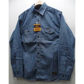 TOYS McCOY(トイズマッコイ)[McHILL CHAMBRAY WORK SHIRT]シャンブレー ワークシャツ プレーンモデル 日本製!