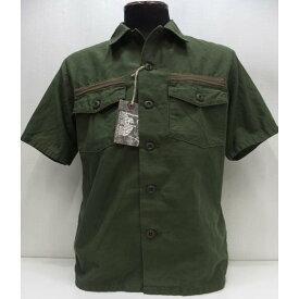 【2020盛夏 新作】COLIMBO(コリンボ)[Short Sleeve Utility Shirt/Plain]サービスシャツ ミリタリー 綿麻 プレーン 半袖シャツ ユーティリティーシャツ 日本製