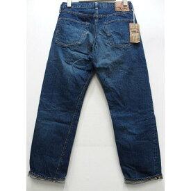 【2020春夏 新作 再入荷】WAREHOUSE(ウエアハウス) [2ND-HAND Lot.1100/Real Vintage Dark Used Wash-Tight Fitting]セカンドハンド セコハン デニム テーパードジーンズ ボタンフライ USED WASH (濃)