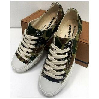 仓库 (仓库) 原帆布运动鞋 [低切帆布 SNEAKER/Lot.3300,运动鞋、 切、 帆布、 伪装 / 迷彩 / 鞋子!