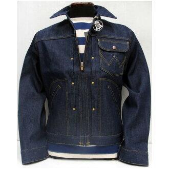 牧馬人 (wrangler 牌) 檔案真的是古董牛仔布 / 牛仔夾克 [11 MJZ 夾克 / 型號] / 日本製造的 !
